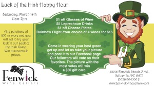 Luck of the Irish Happy Hour @ Fenwick Wine Cellars | Selbyville | Delaware | United States